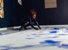 Adelaide Damoah live performance. UNFOLD Space. Image courtesy Jennifer Moyes