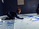 Adelaide Damoah live performance. UNFOLD Space. Image courtesy Jennifer Moyes
