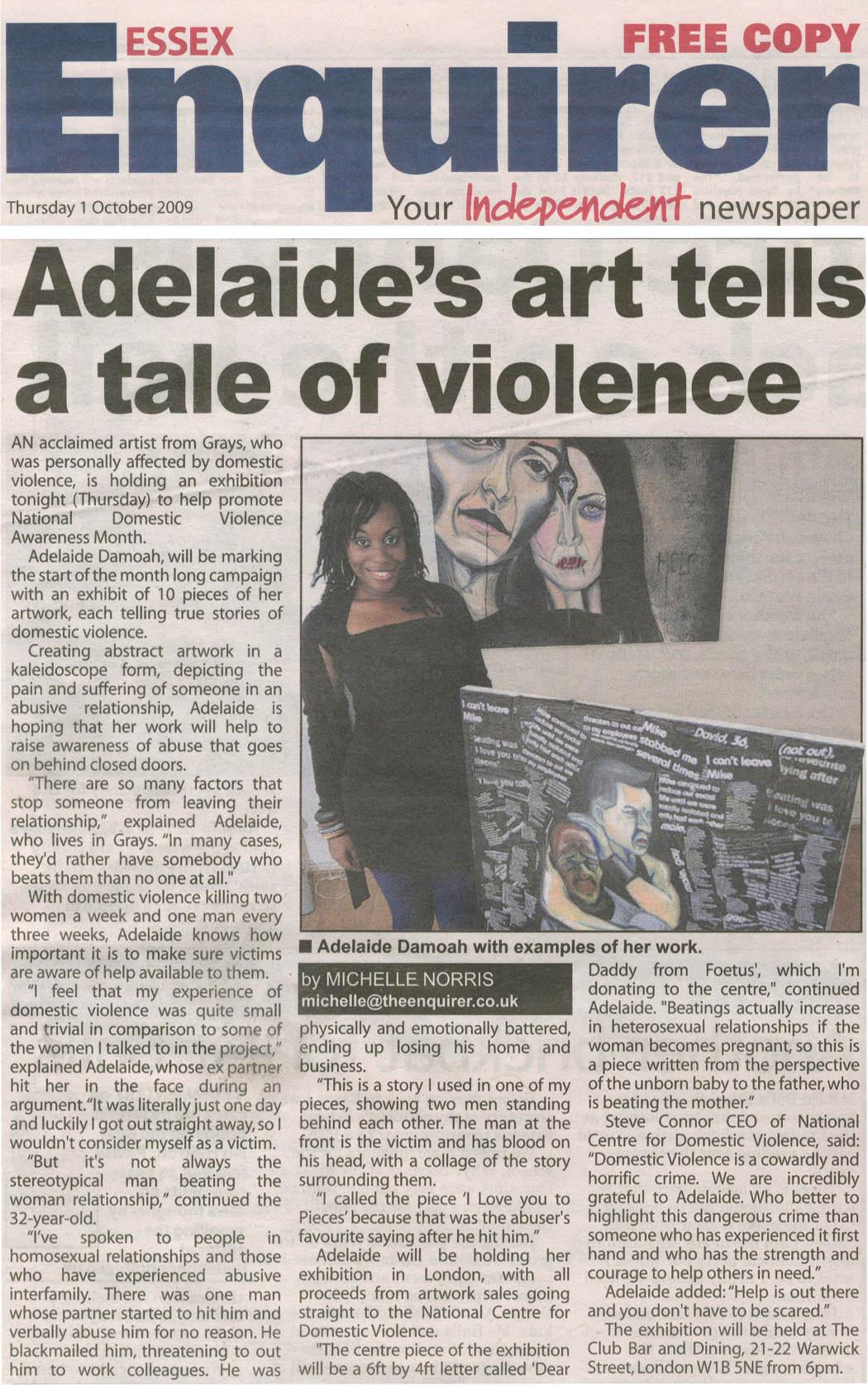 Domestic violence paper